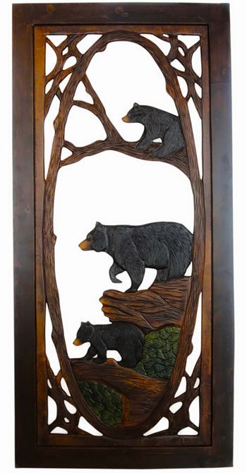 Bear Family Screen Door Double-Sided